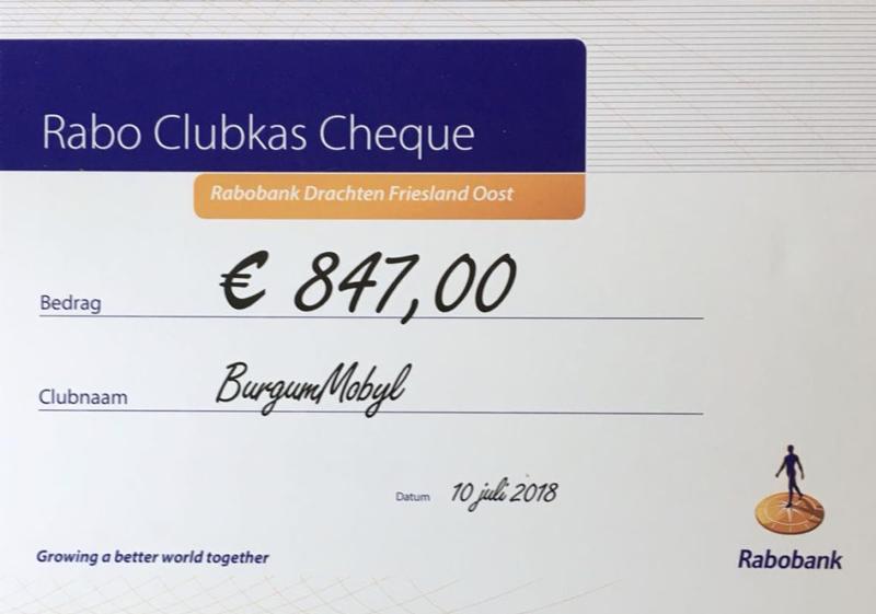 Blij met mooi bedrag Rabobank Clubkas Campagne